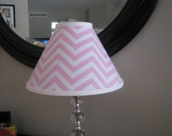 Lamp shade Pink Chevron Lamp shade