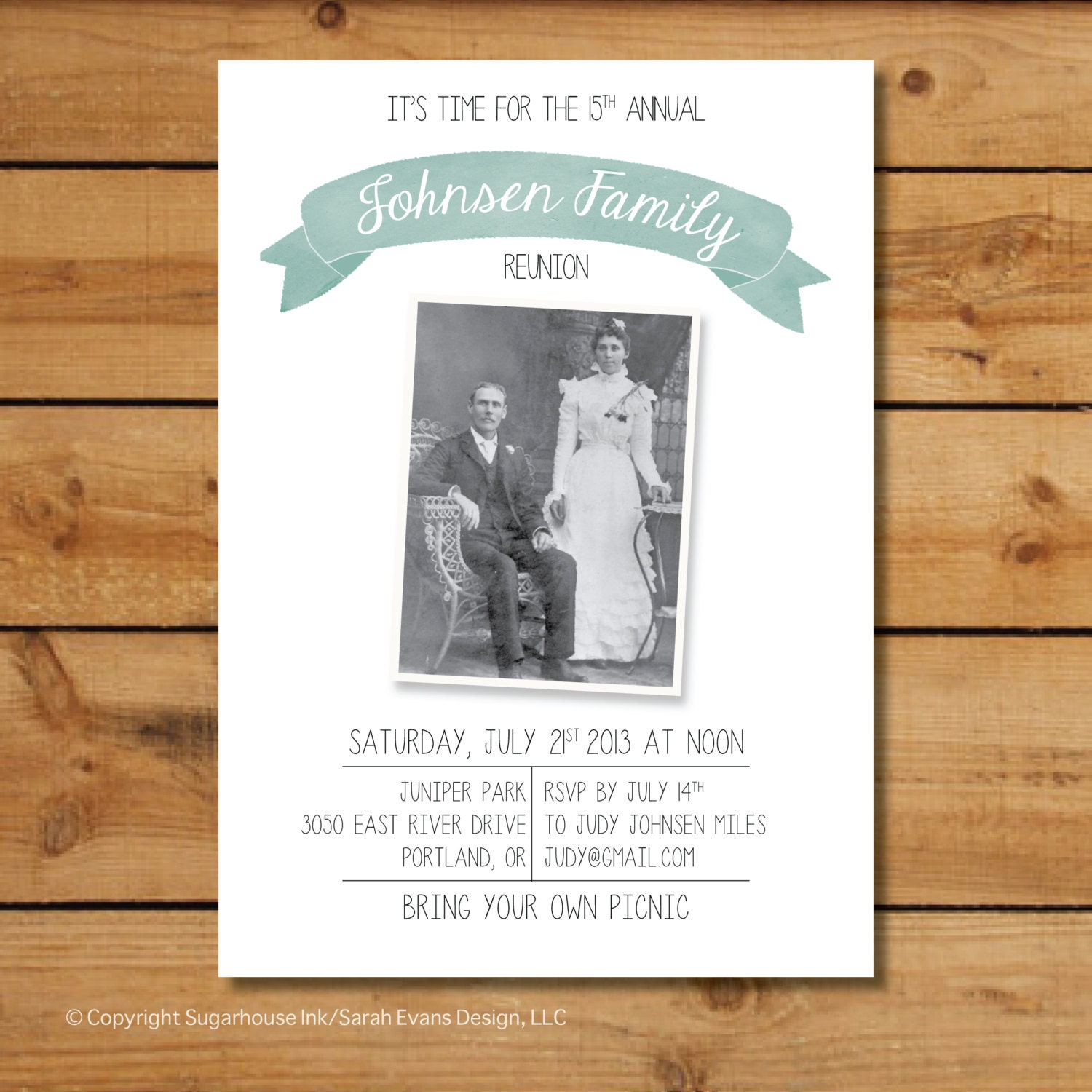 family reunion invitations vintage family photo by