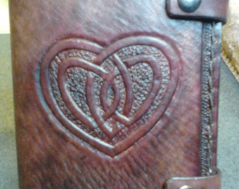 Celtic Heart Genuine Leather Journal