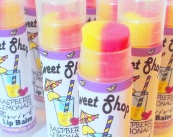 Lip Balm Lemonade and Raspberry Flavored SWIRLED - Vegan