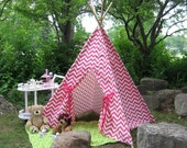 Chevron Teepee Tent, Play Tent, Playhouse, Fort, Choose from 10 Color Options