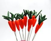 Carrot Pin Topper handsculpted
