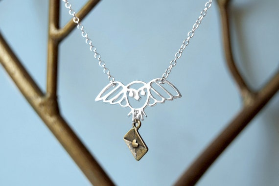 Long Live Hedwig - Harry Potter Owl Necklace - Hedwig Necklace
