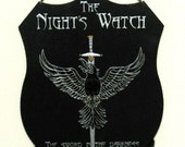 Wall plaque - heraldic The Night's Watch sigil.  Unique & hand-painted. Game of Thrones, Song of Ice and Fire.  Great gift.