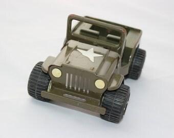 Vintage Tonka Army Jeep Metal