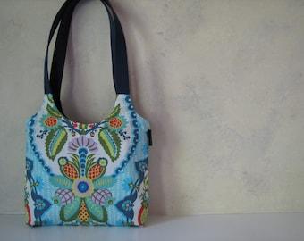 Blue Floral Shoulder Bag