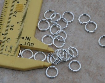 Sterling Silver plated jump rings in a heavy weight