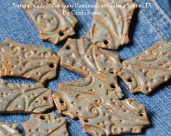 Sea Green Pottery Beads The Little Edith