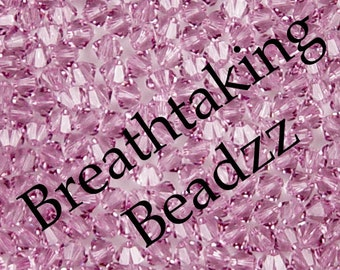 Swarovski Beads Crystal Bead 24 Light Amethyst 6mm Crystal Bead Bicone 5328 Many Colors In Stock