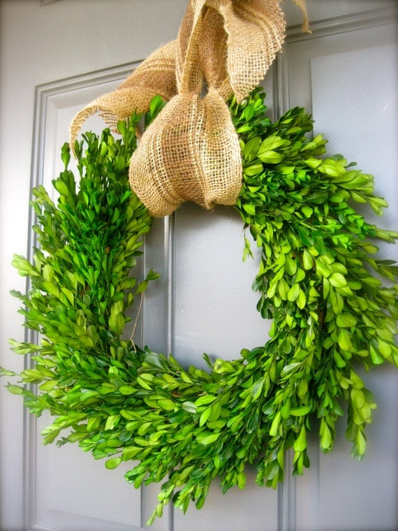 Sale preserved boxwood wreath for mother s day perfect for weddings