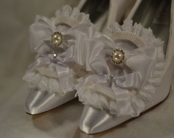 Special Size 10 - Marie Antoinette White Ruffle Princess Heels
