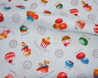 Sweets Print Japanese fabric  A8