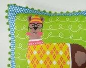 DIY Pillow Panel - Preppy Llama