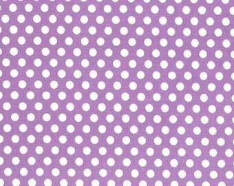 Fat Quarter - Kiss Dot Fabric by Michael Miller Fabrics CX5518-PURP-D