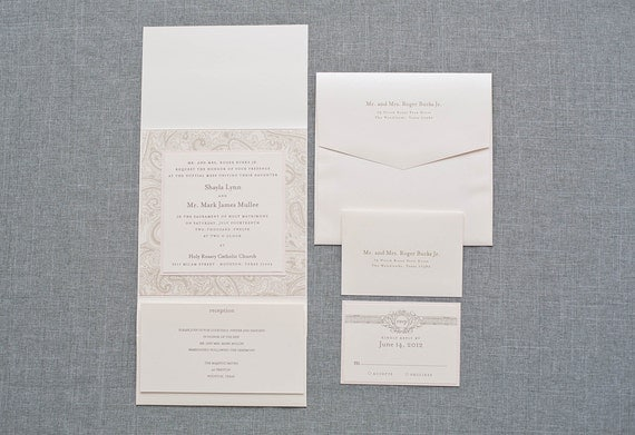 Blush And Ivory Wedding Invitations: Unavailable Listing On Etsy