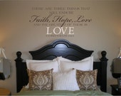 Wall Decal Wall Sticker Faith Hope and Love Wall Decal/Wall Sticker/Wall Tattoo