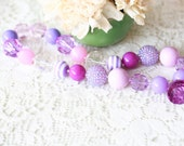 Lilac Purple Chunky Necklace for Girls by Dreamspun
