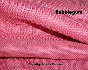 Clearance BURLAP BUBBLEGUM colored Shalimar burlap Fabric 1 YARD marked 50% off