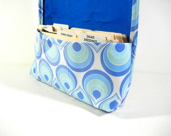 Waterproof Coupon Organizer Blue Teardrops