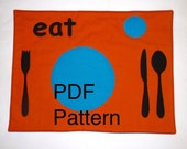 PDF Set the Table Place Mat How to sew Place Mat Montessori Educational Instant Download Placemat Sewing Pattern by BonTons