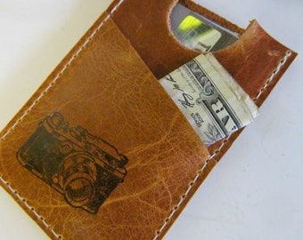 Slim Card Wallet with Pocket Custom Free Personalization