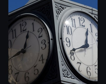 Northville Michigan Clock - Canvas wrap - rec room - office - wall decor