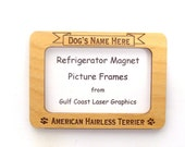 American Hairless Terrier Dog Magnet Picture Frame