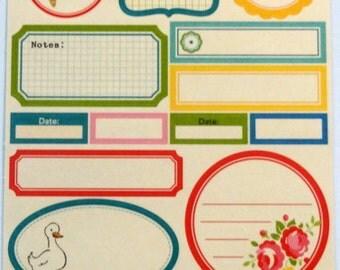 OCTOBER AFTERNOON label stickers - Scrapbook Embellishment