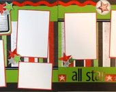 ALL STAR 12 x 12 premade scrapbook pages - boy