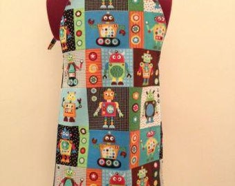 Robot Themed Cooking or Craft Apron