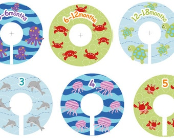 Size 0-6 Ocean Sealife Closet Clothing Dividers