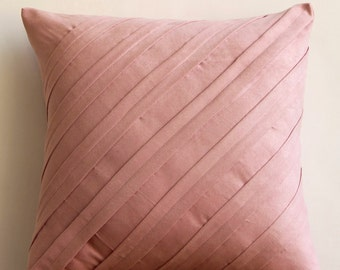 Decorative Pillow Sham Covers Accent Pillow Couch 24 Inch Silk Pillow  Contemporary Soft Pink n Home Decor Living Housewares