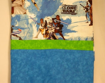 Star Wars Clone Wars  Personalized   Monogrammed Pillowcase Hand made Standard Size