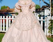 1800's style Fantasy Victorian Gown Civil War Gone with the Wind Custom Colors and sizes