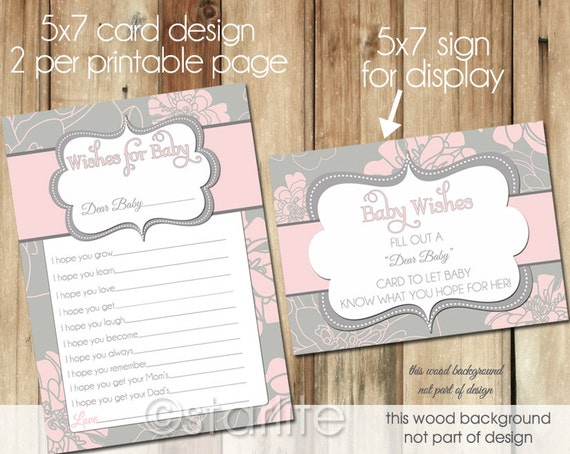 well wishes card baby shower wishes for baby card printable girl