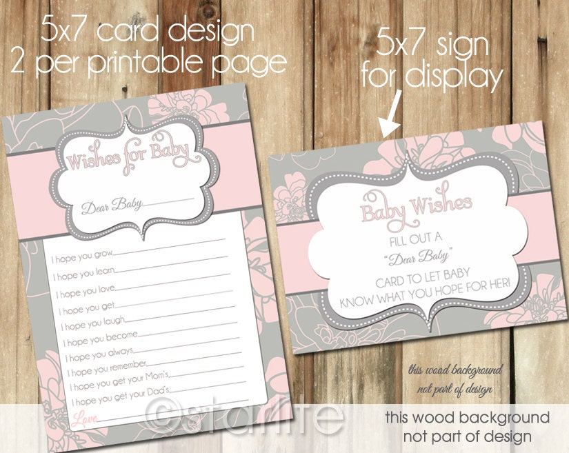 well wishes card baby shower wishes for baby card, Baby shower invitation