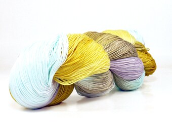 150 Yards Hand Dyed Cotton Crochet Thread Size 10 3 Ply Specialty Thread Yellow Blue Brown Purple Hand Painted Fine Cotton Yarn