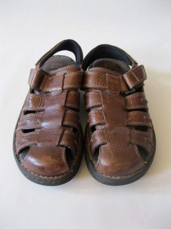Nunn Bush Sandal Shoes In Thick Sturdy Leather With Comfort