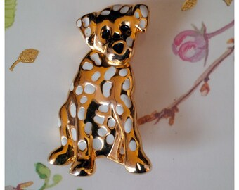 Lovely Dalmation Puppy Brooch