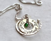 Birth Without Fear Pregnancy Birthstones Necklace Midwife Doula