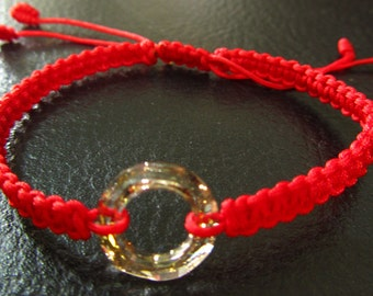 Red Thread Chinese Knotted Bracelet - Small
