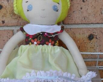 Sew Sunshine -JCOCO doll -YLW-Handmade soft cotton doll