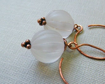 Frosted - Vintage Style Earrings