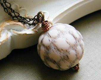 The Fur Ball - Vintage Inspired Pendant Necklace