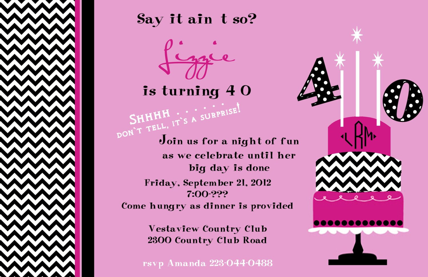 Surprise Birthday Party Invitations For Him – Surprise Party Birthday Invitations