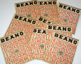 8 Vintage (1939) Beano Cards for Altered Art, Collage, etc.
