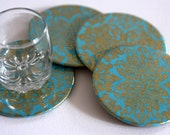 Reserved for Laura B - Maharaja Turquoise Coasters