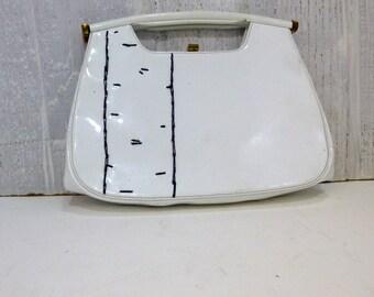 patent leather birch handbag