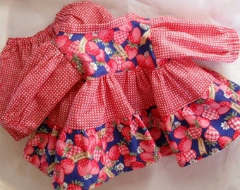 Cabbage Patch StrawBerry Dress and Panties HandMade