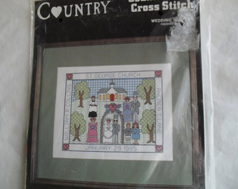 Counted Cross Stitch Embroidery Country Needle Kit  New